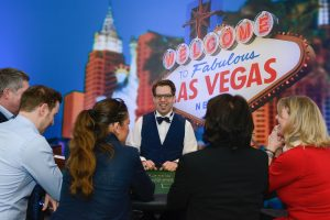 Der Falschspieler aus Berlin am Casino-Tisch.